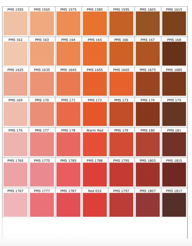 Chart pms matching Pantone Matching